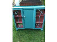 Blue Glass Cabinet