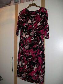 'JASPER CONRAN' Dress Cerise/Balck
