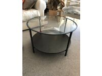 Coffee table black/glass