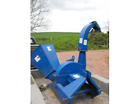 Landlegend PTO 6 inch wood chipper newly sharpened blades suited to tractors of 20HP and upwards