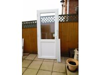WHITE UPVC DOUBLE GLAZED ANGLIAN REAR/GARAGE DOOR