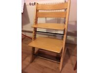 Stokke Tripp Trapp Chair, beech colour, well used, good condition, clean