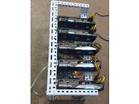 Custom built GPU mining rig