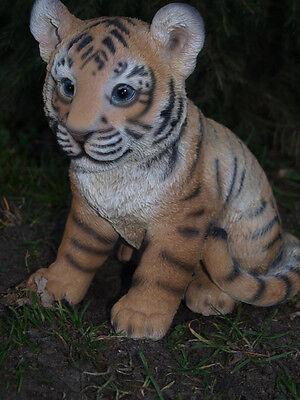 Tiger Tigerbaby Dekoration Figur Wildtiere Gartendeko lebendsecht