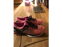 ASICS women's trainers gel Kinsei size 6, as new pink/ coral £50.00