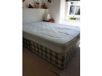 Free Double bed base set and mattress