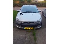 Peugeot 206cc with low mileage