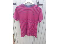Fat Face T shirt Medium Stripey Red Blue Used