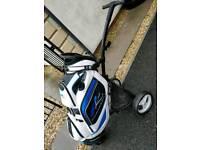 Powakaddy Premium Golf Cart Bag and Motocaddy S-Lite Trolley