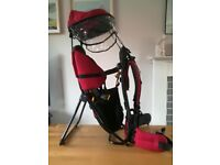Deuter kid comfort 1 red back baby carrier hiking walking with hood, used for sale  Amesbury, Wiltshire