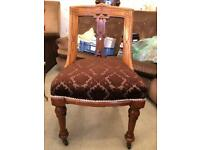 1x Antique Victorian Mahogany dining chair/s c1870s on original ceramic casters 3 available