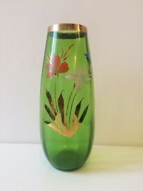 Lovely Mid Century Hand Painted Large Vintage Vase