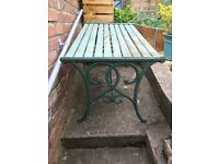 Free Cast iron and wood garden table