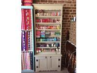 Bookshelf/ribbon stand