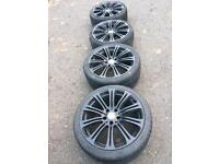 """BMW 19"""" staggered alloys with tyres"""