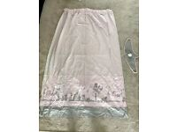 Pink and Grey Next Children's Curtains with tie backs (117cm x 183cm)