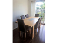 John Lewis Dining Table With 6 Chairs Complete With Coffee Table (Superb Condition/Hardly Used)
