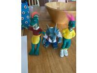Jim Henson dinosaur figures
