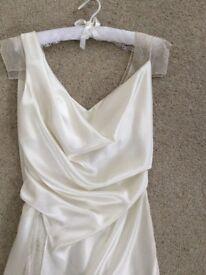 David Fielden Designer wedding dress size 10,