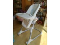 Fisher Price high chair with detachable work top