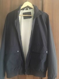 Mens navy lacoste light jacket