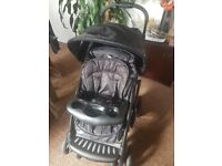 Mothercare trenton travel system. Includes pushchair, carseat, baby carrier,footmuff