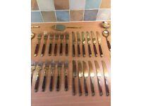 48 Piece Solid Bronze Cutlery set
