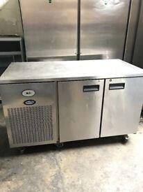 Foster commercial bench fridge, two doors catering fridge