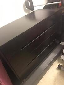 Modern Style 4 Drawer Dark Chest of Drawers