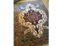 Keshan wool large vintage rug
