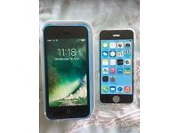 iPhone 5C EE / Virgin Blue Excellent condition