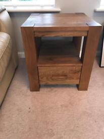 Harvey's Solid Oak side table