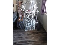 Boohoo sparkly silver dress