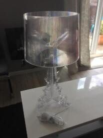 Transparent Baroque high accent acrylic lamp by Fair Trade