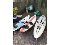 "Windsurf boards ,used but still ""work"". . Nose on one bit damaged but priced to go.!"