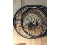 Mavic ksyrium S equipe road bike rims, tyres and shimano cassette
