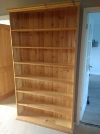 Solid wood pine bookcase
