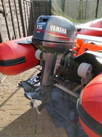 4m dinghy with 15hp Yamaha 2 stroke