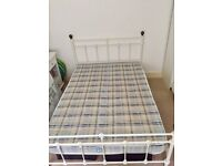 Standard Double bed with slatted bed base and mattress