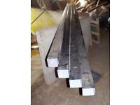 Black Squareline Down Pipe 4 metre lengths x 4