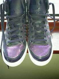 Ladies purple Adidas Original Boots