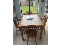 Dining Table and 4 Chairs. Rustic style