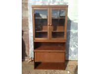 Retro Old Solid Wooden Dresser Display Cabinet Cupboard Kitchen Dining £100