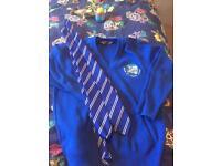 Biggin hill primary v neck jumper and 2x school ties