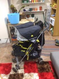 Maclaren twin techno pushchair buggy double
