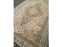 Beautiful Mid Century Vintage Persian Rug Carpet 200x294cm Handwoven Professionally Cleaned