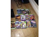 Xbox 360 for sale with kinnet and 13 games and 1 controller