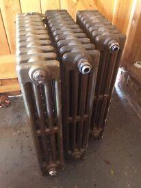 3 antique cast iron radiators - excellent condition