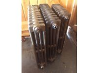 3 antique cast iron radiators - excellent condition