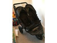 Out 'N' About Nipper 360 Double Pushchair, Black - Hardly Used, Excellent Condition